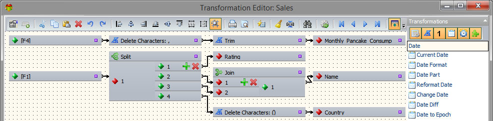 QlikView Connector Transforming Data