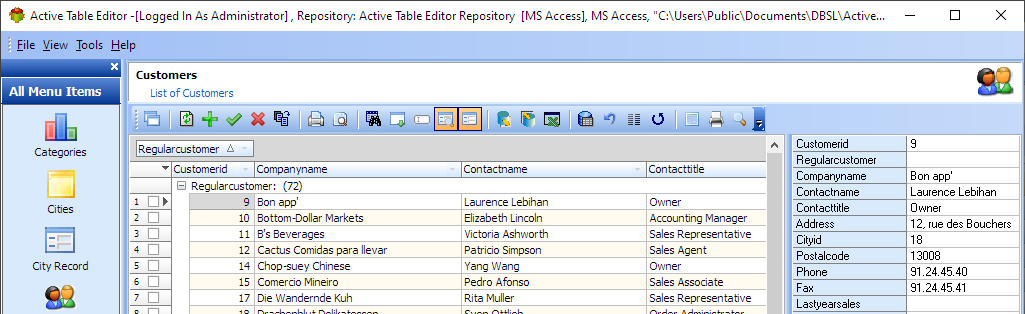 Active Table Editor