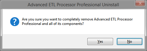 Uninstall Advanced ETl Processor Professional Message