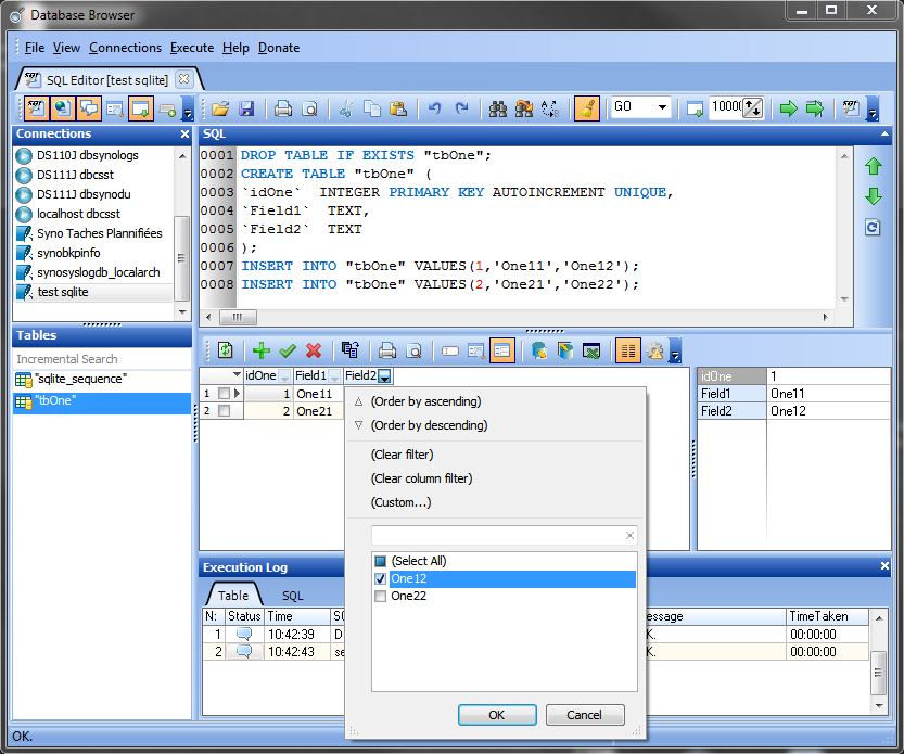 The best SQLite software to create a correct db for