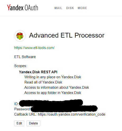 Connecting to Yandex Disk - Knowledge Base Articles [ETL-WIKI]