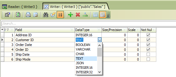 Target type is Tableau Hyper file - Working with Writer - Processing